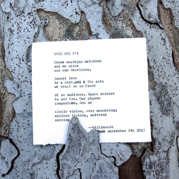"""Eyes & I's"" by billimarie typewriterpoetry for thelittleblackcoffeecup"