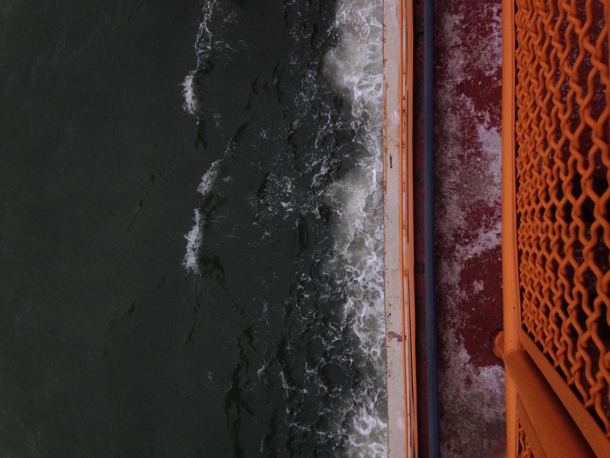 Sea Orange Staten Island Ferry Manhattan New York Billimarie Typewriter Poetry