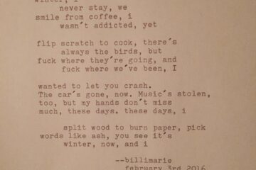 """With Ink"" by Billimarie Lubiano Robinson - Typewriter Poetry"